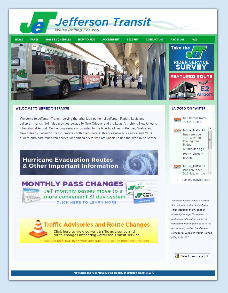 Jefferson Transit website