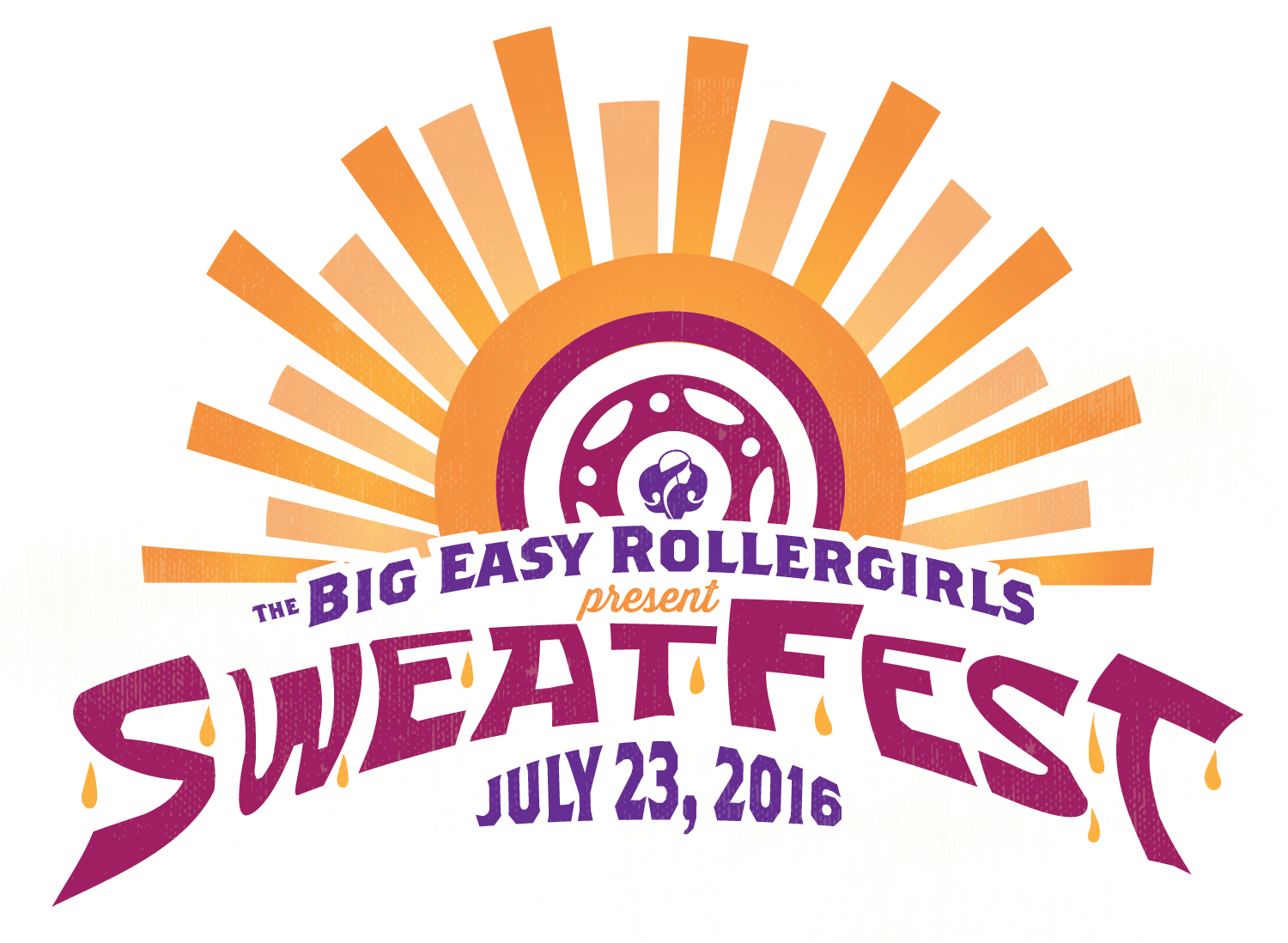 Sweatfest Rollerderby Tournament logo