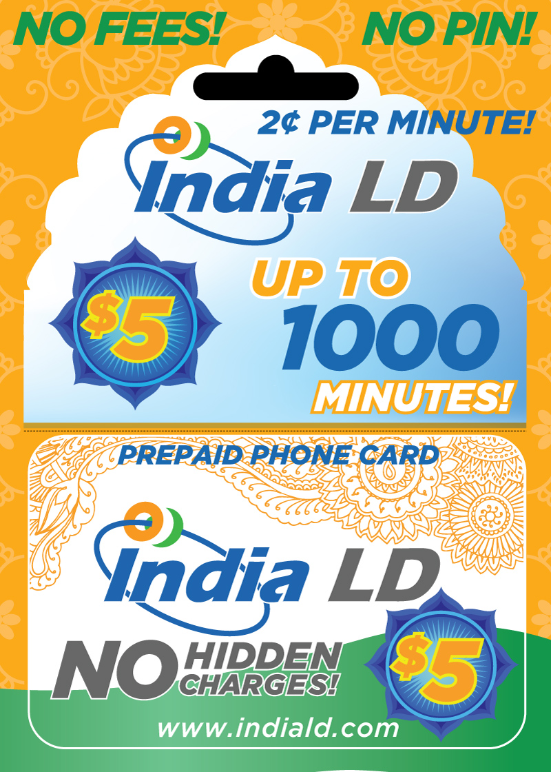 India LD Calling Card Packaging